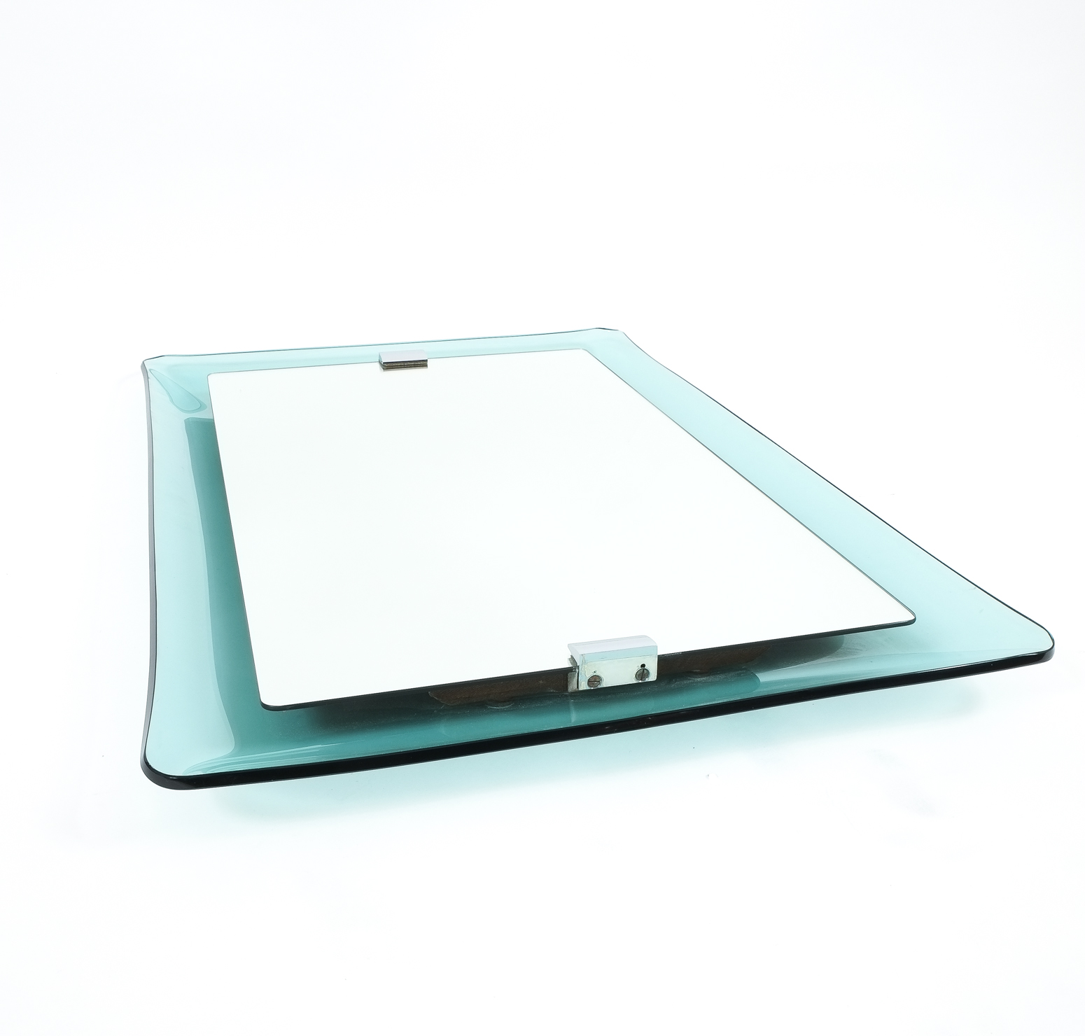 Curved glass floating mirror by crystal art glass for Glass and mirror company