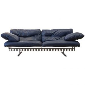 Pierluigi Cerri Ouverture Leather Sofa for Poltrona Frau,