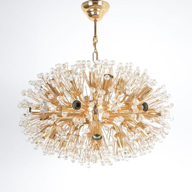 Emil Stejnar chandelier gold 5 Kopie