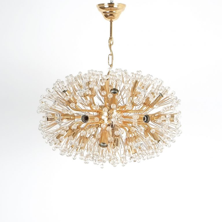 Emil Stejnar chandelier gold 6 Kopie