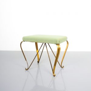 pair 1950 stools brass italy 2 Kopie