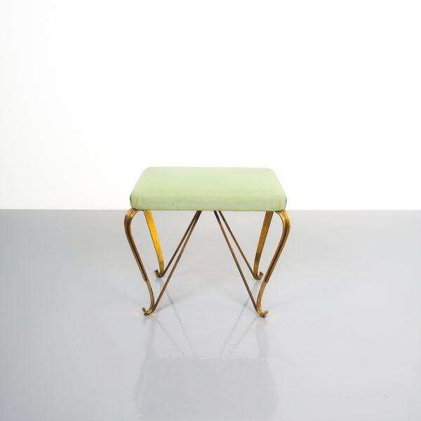 pair 1950 stools brass italy 3 Kopie