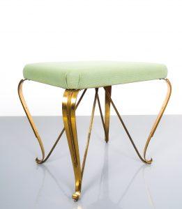 pair 1950 stools brass italy 4 Kopie