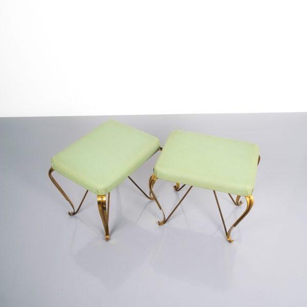 pair 1950 stools brass italy 7 Kopie