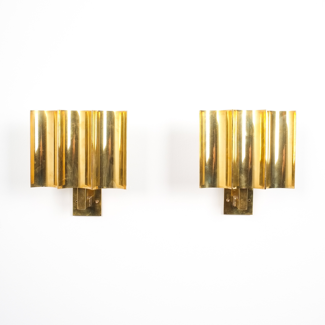 Art deco style artisan solid brass wall lamps sconces for Art decoration france
