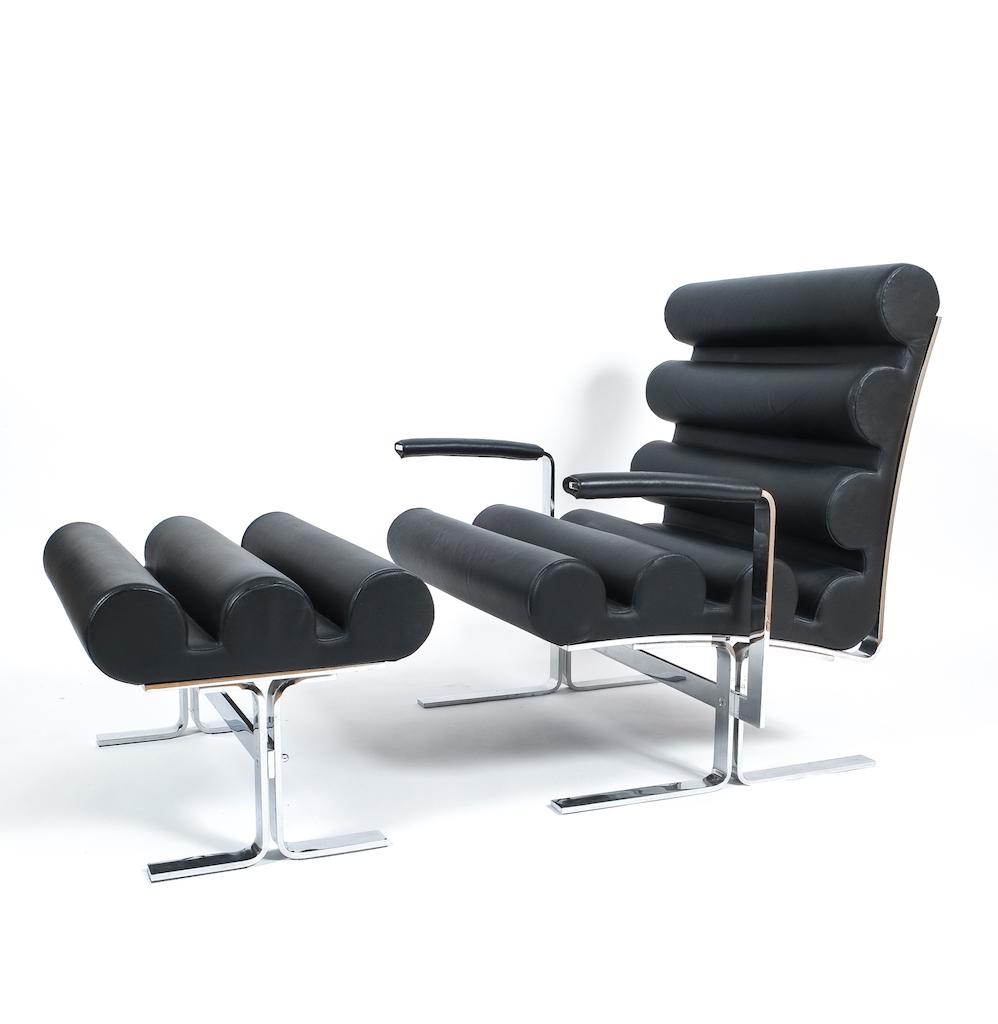 Joe Colombo Roll Leather Armchair Derive Vienna