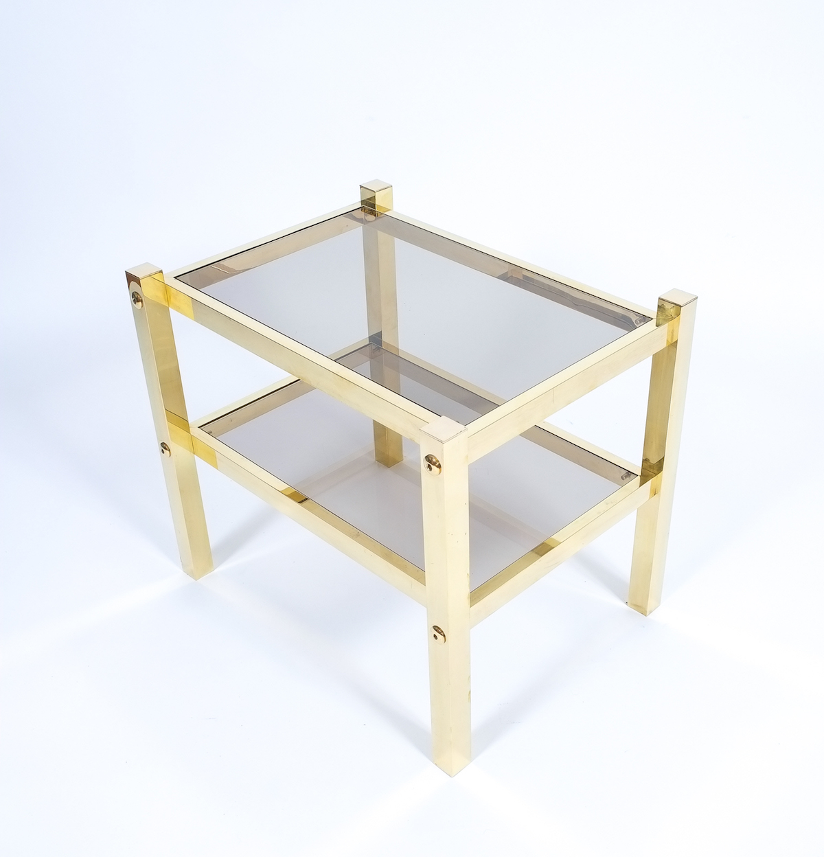 2 Small Brass Side Table
