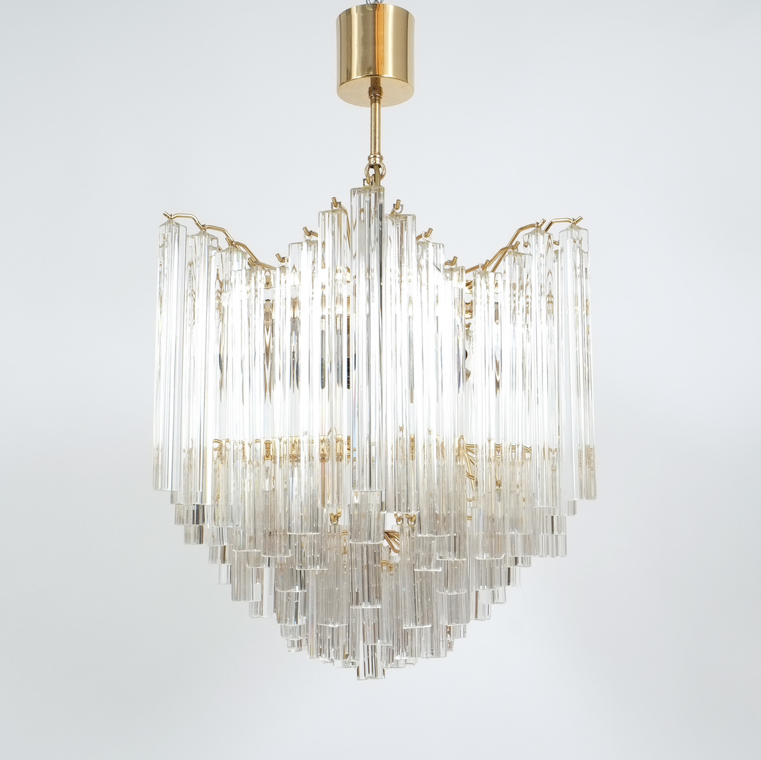 Venini chandelier with murano glass prisms derive vienna venini chandelier with murano glass prisms aloadofball Images