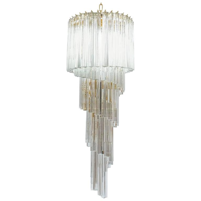 Venini chandelier with murano prisms derive vienna venini chandelier with murano prisms aloadofball Image collections