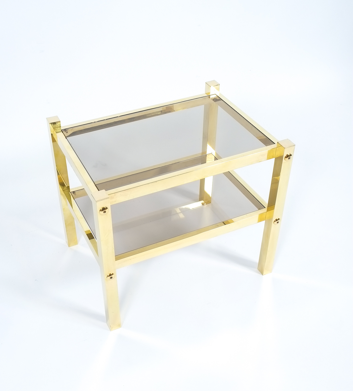 4 Small Brass Side Table