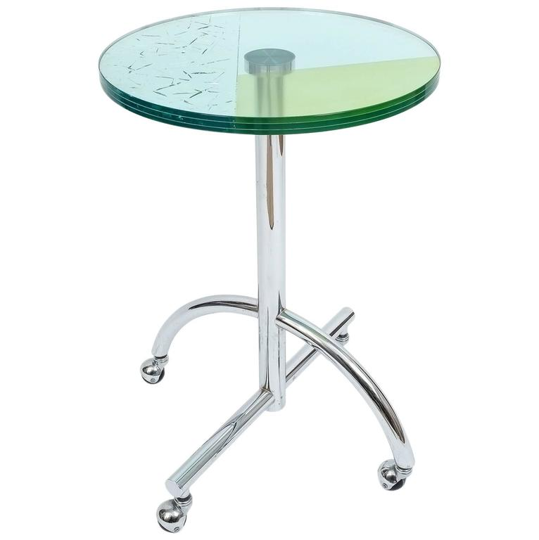 Memphis Furniture Company: Memphis Round Rolling Table Sally By Shiro Kuramata