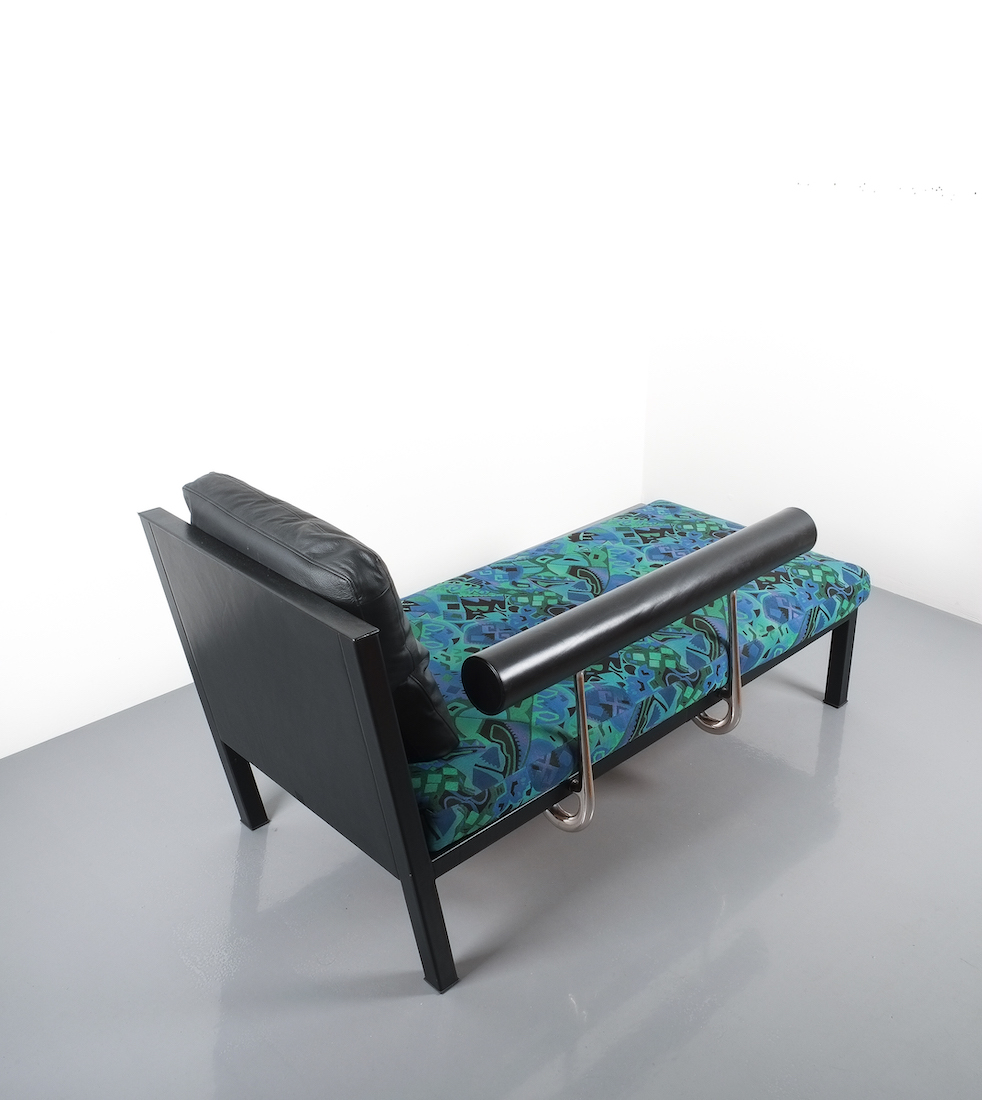 Antonio Citterio for B&B Italy Leather Chaise Lounge Baisity