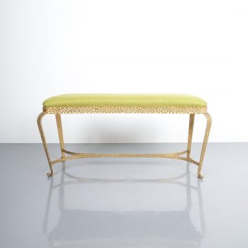 pier luigi Colli bench green fabric 4 Kopie
