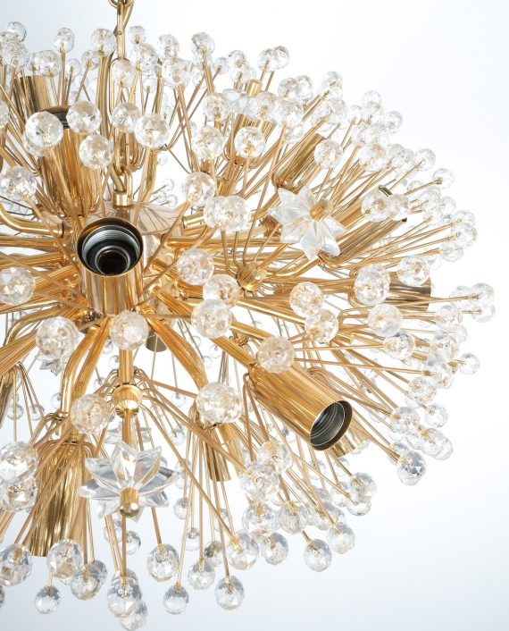 Emil Stejnar chandelier gold 2 Kopie