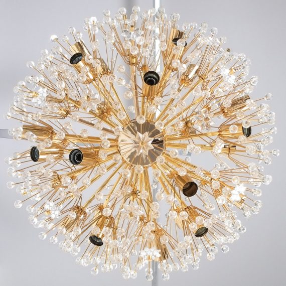 Emil Stejnar chandelier gold 3 Kopie