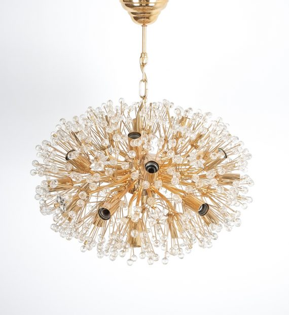 Emil Stejnar chandelier gold 4 Kopie