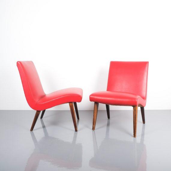 Jens Risom pair vinyl chairs 2 Kopie