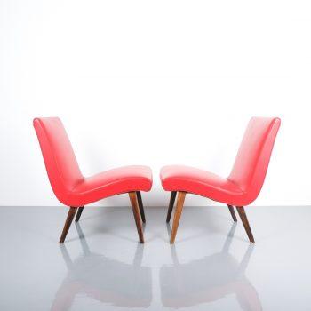 Jens Risom pair vinyl chairs 3 Kopie