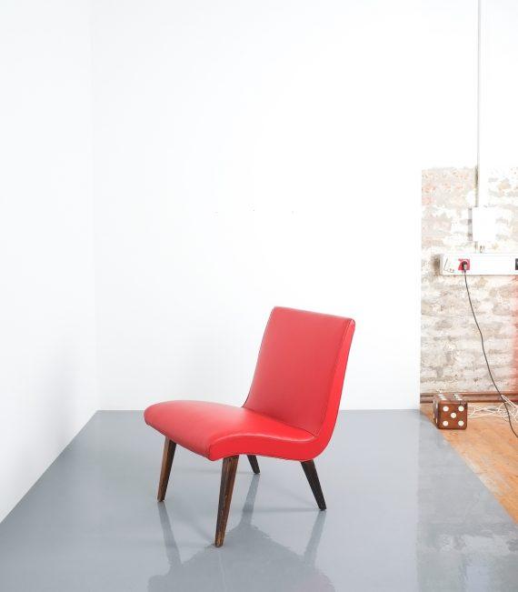Jens Risom pair vinyl chairs 4 Kopie