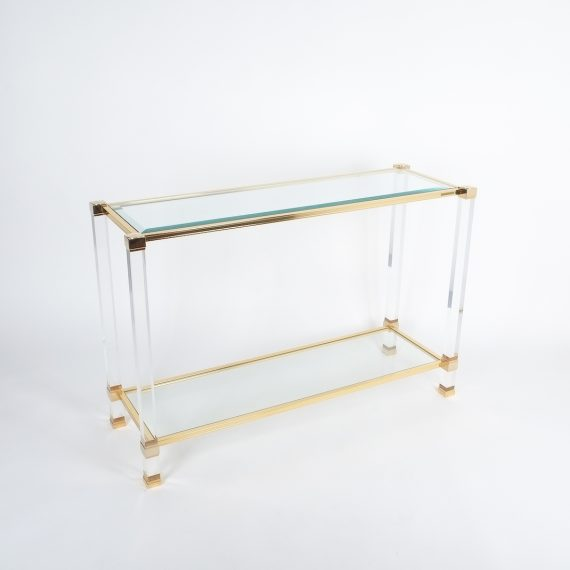 PIerre Vandel lucite console table_02