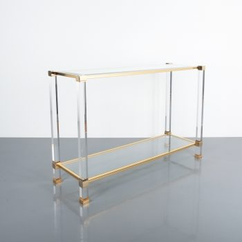 PIerre Vandel lucite console table_08