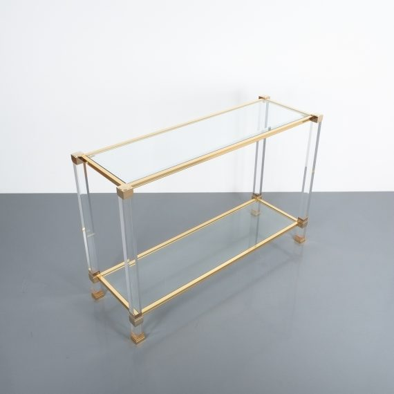 PIerre Vandel lucite console table_09