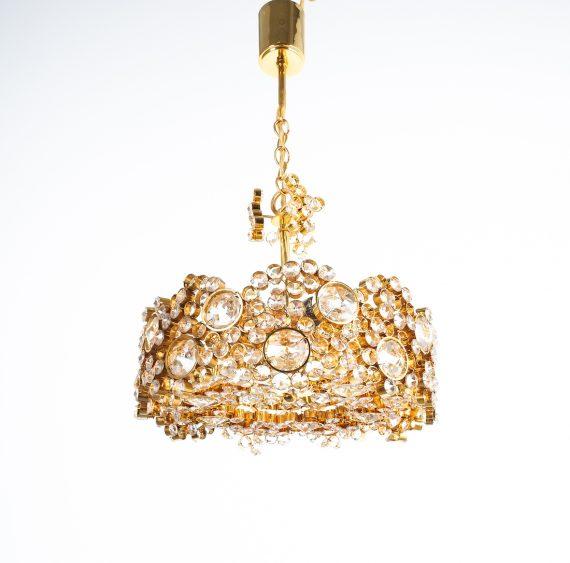 Palwa encrusted Brass glass chandelier _01