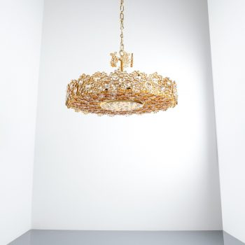 Palwa encrusted brass glass chandelier 16 Kopie