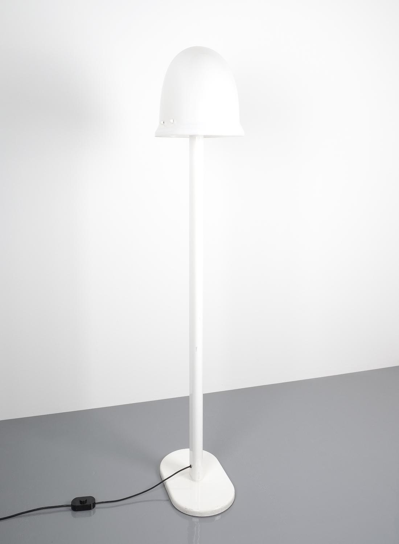 Rodolfo Bonetto White Metal Lucite Floor Lamp Guzzini