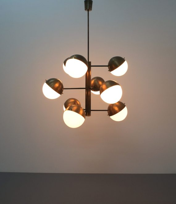 Stilnovo brass opaline chandelier_01
