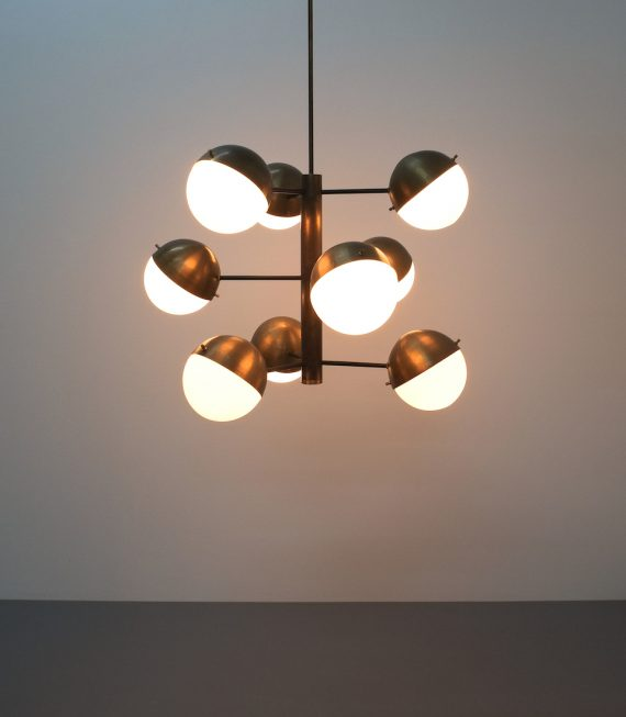Stilnovo brass opaline chandelier_02