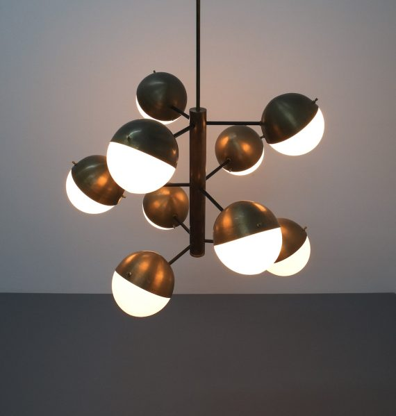Stilnovo brass opaline chandelier_03