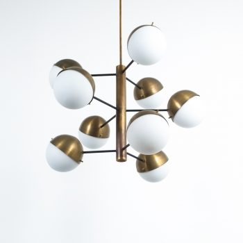 Stilnovo brass opaline chandelier_09