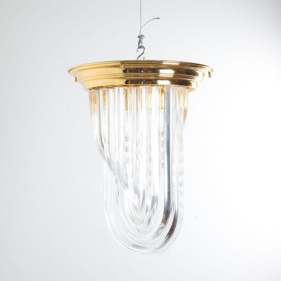 Venini Curved Crystal Glass Brass 3 Kopie