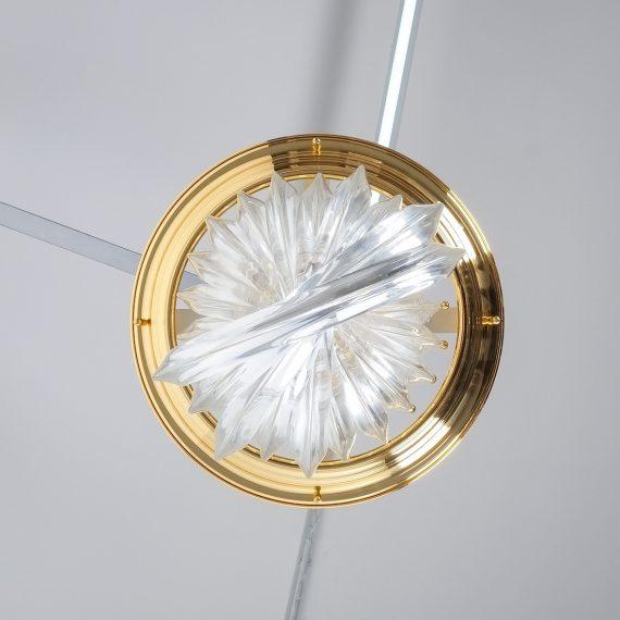 Venini Curved Crystal Glass Brass 5 Kopie