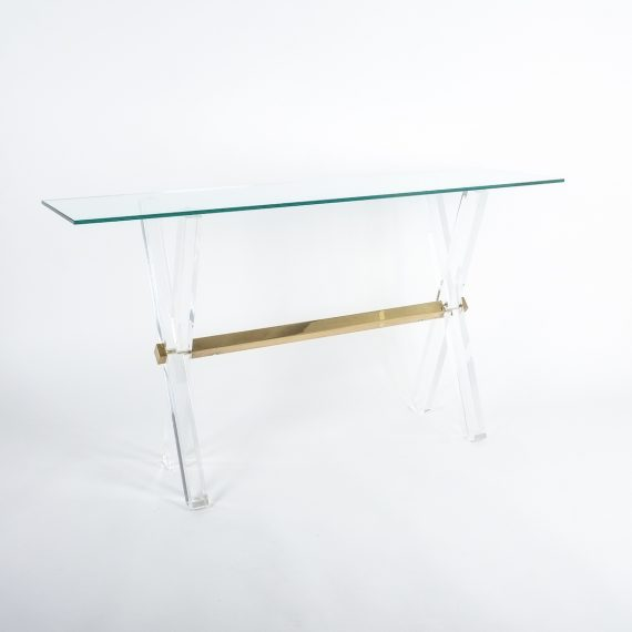 X console table lucite brass_02