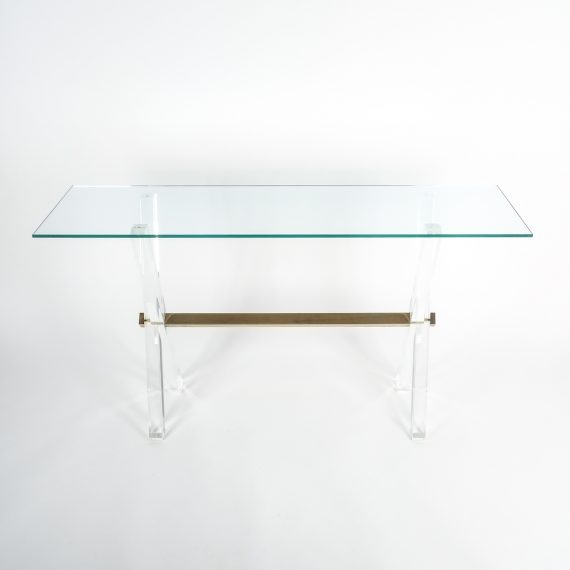 X console table lucite brass_04