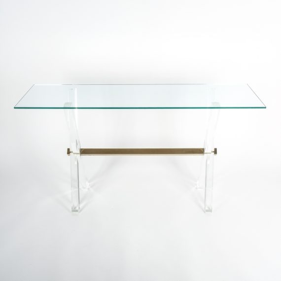 X console table lucite brass_06