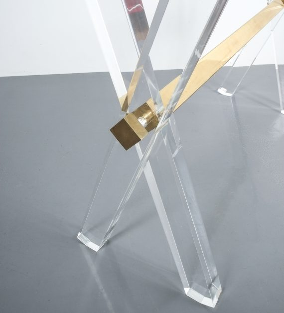 X console table lucite brass_07