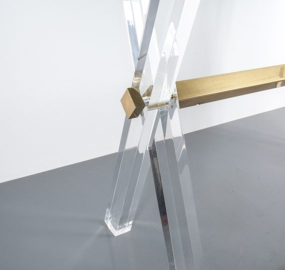 X console table lucite brass_12