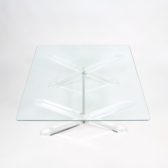 X lucite coffee table 2