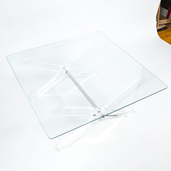 X lucite coffee table 3