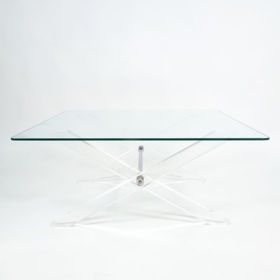 X lucite coffee table 4