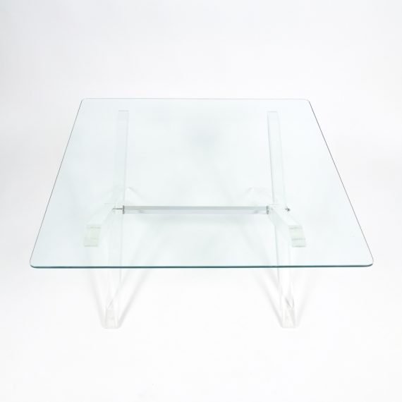 X lucite coffee table 5