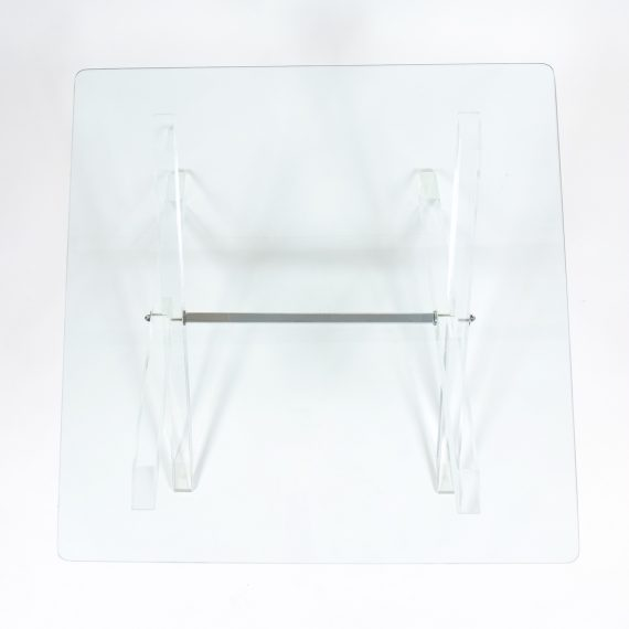 X lucite coffee table 6