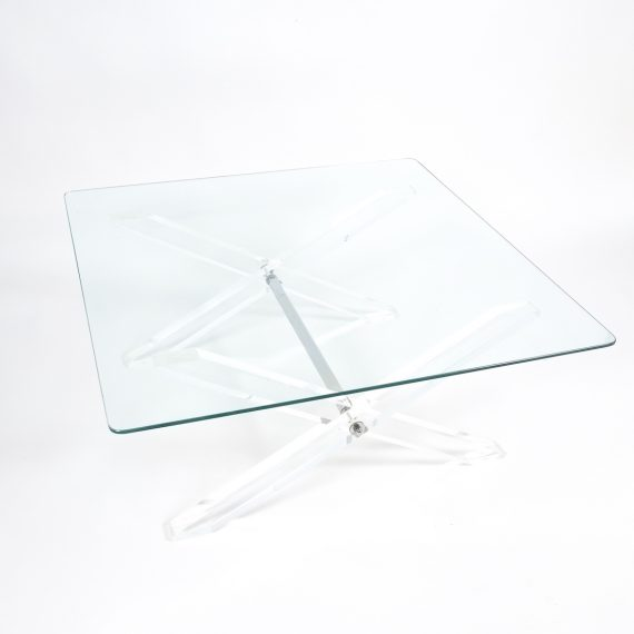 X lucite coffee table 7