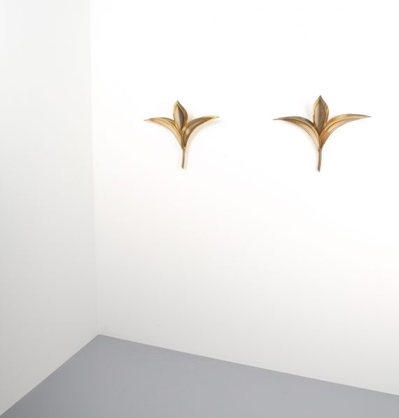 tommaso barbi style brass tulip wall lamps 1 Kopie