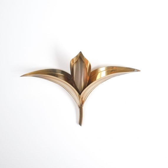 barbi style brass tulip wall lamps 3 Kopie