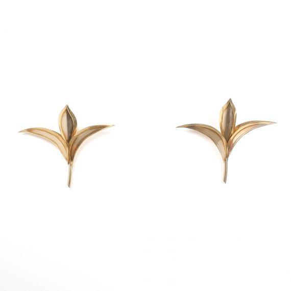 barbi style brass tulip wall lamps 5 Kopie