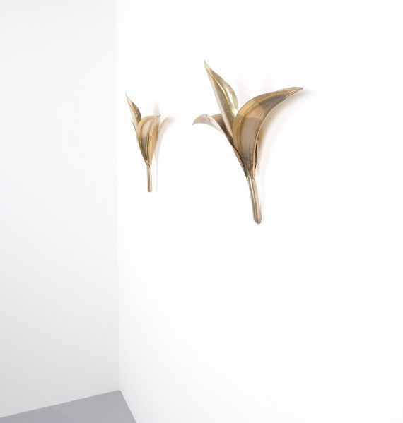 barbi style brass tulip wall lamps 8 Kopie
